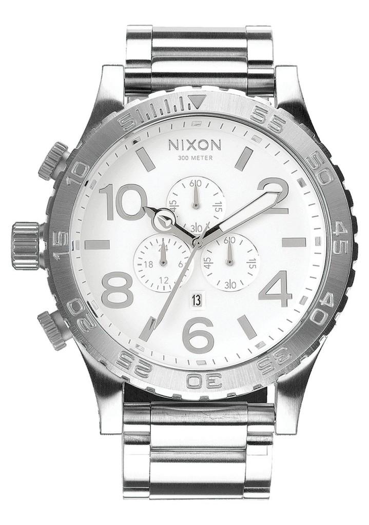 Artist Hangout - Nixon 31-50 Stainless Steel & White (front)