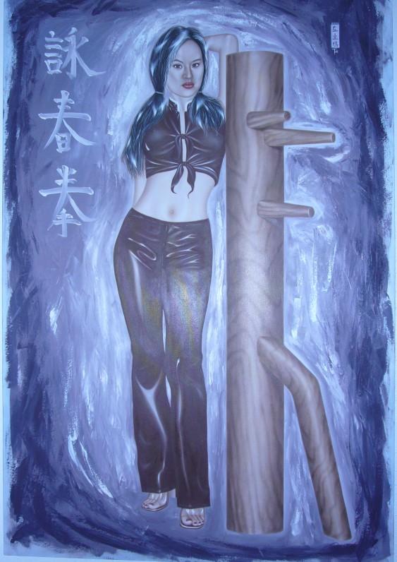 Artist Hangout 12 - (2003 Sep) Hong & Wing Chun Wooden Dummy II - By Artist Tai Zen