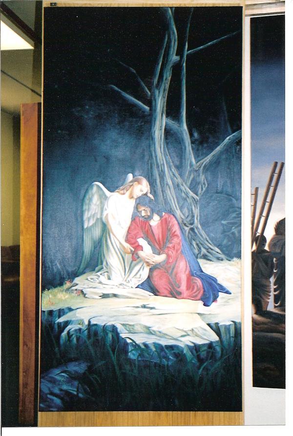 Artist Hangout 15 - Jesus in the garden of Gethsemane - By Artist Tai Zen