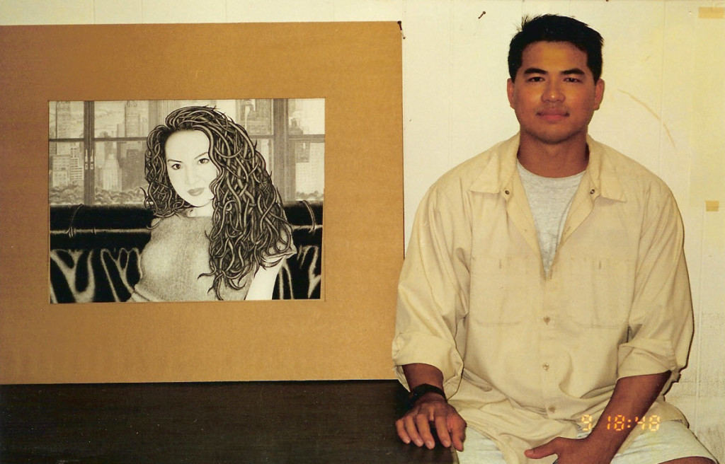 Artist Hangout 22 - Hong In NYC(2000) - Tai Zen's first professional piece of artwork - charcoal