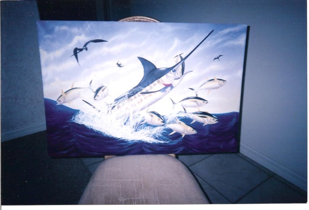 Artist Hangout 27 - Sailfish (2004 Jun) (oil) - By Artist Tai Zen