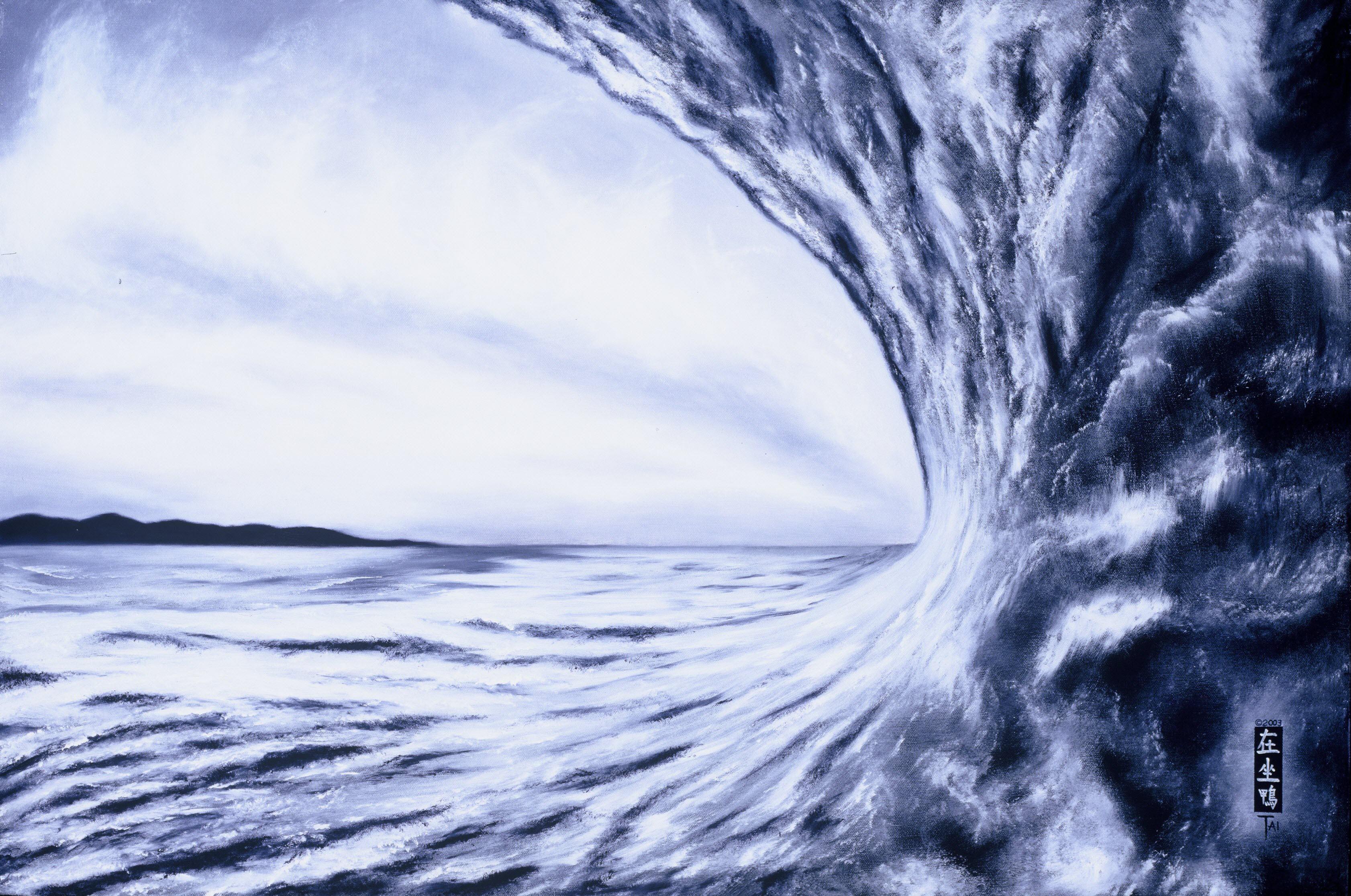 Artist Hangout 30 - South African Wave II (2003 Nov) (oil) - By Artist Tai Zen