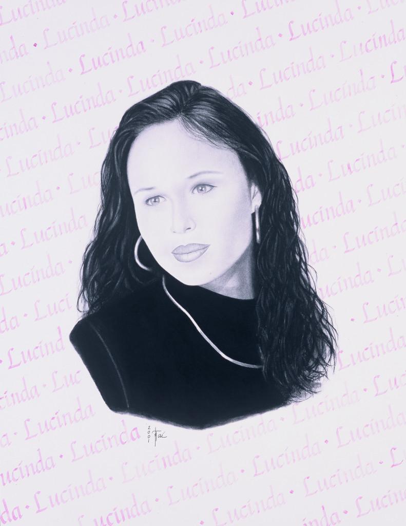 Artist Hangout 33 - Lucinda (2001 Dec) (charcoal) - By Artist Tai Zen