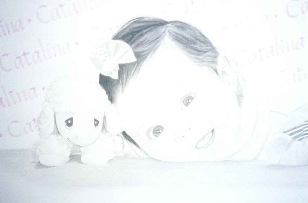 Artist Hangout 37 - Catalina (2001 Nov) (charcoal & watercolor) - By Artist Tai Zen