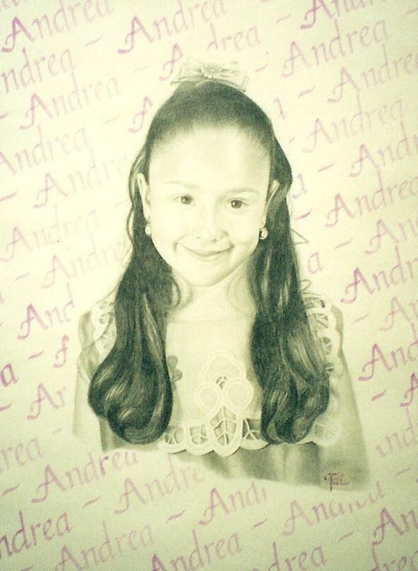 Artist Hangout 39 - Andrea Archuleta (2001 Feb) (charcoal & watercolor) - By Artist Tai Zen