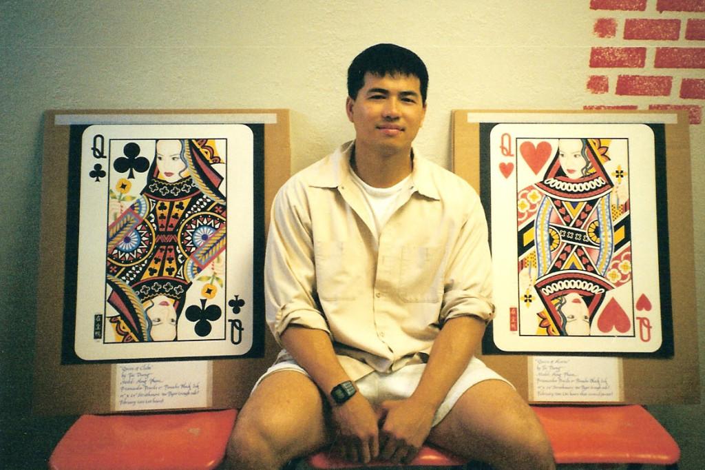 Artist Hangout 44 - (2001) Tai & his queens - By Artist Tai Zen