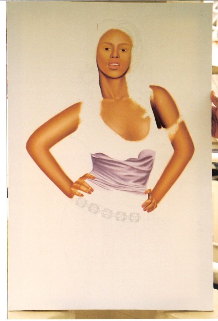 Artist Hangout 9 - Beyonce Partial (2004 Jul) - By Artist Tai Zen