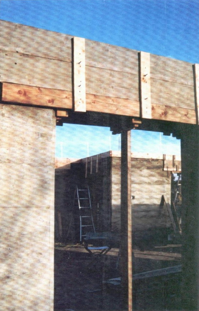 Artist Hangout - Rammed Earth House Construction 18 - Setting Up Forms For Bond Beam