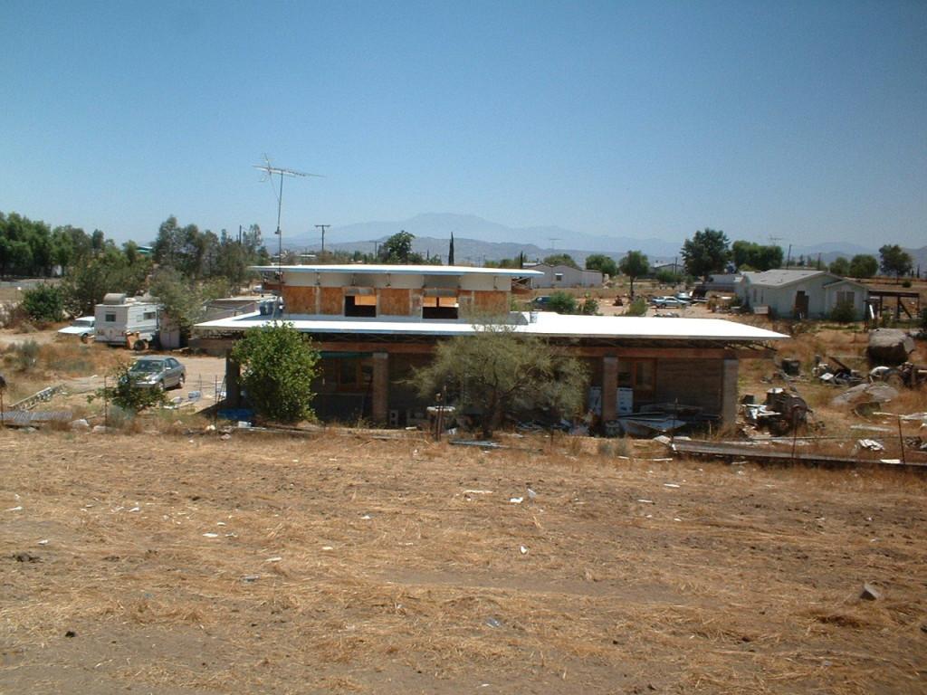 Artist Hangout - Rammed Earth House Construction 33 - West View
