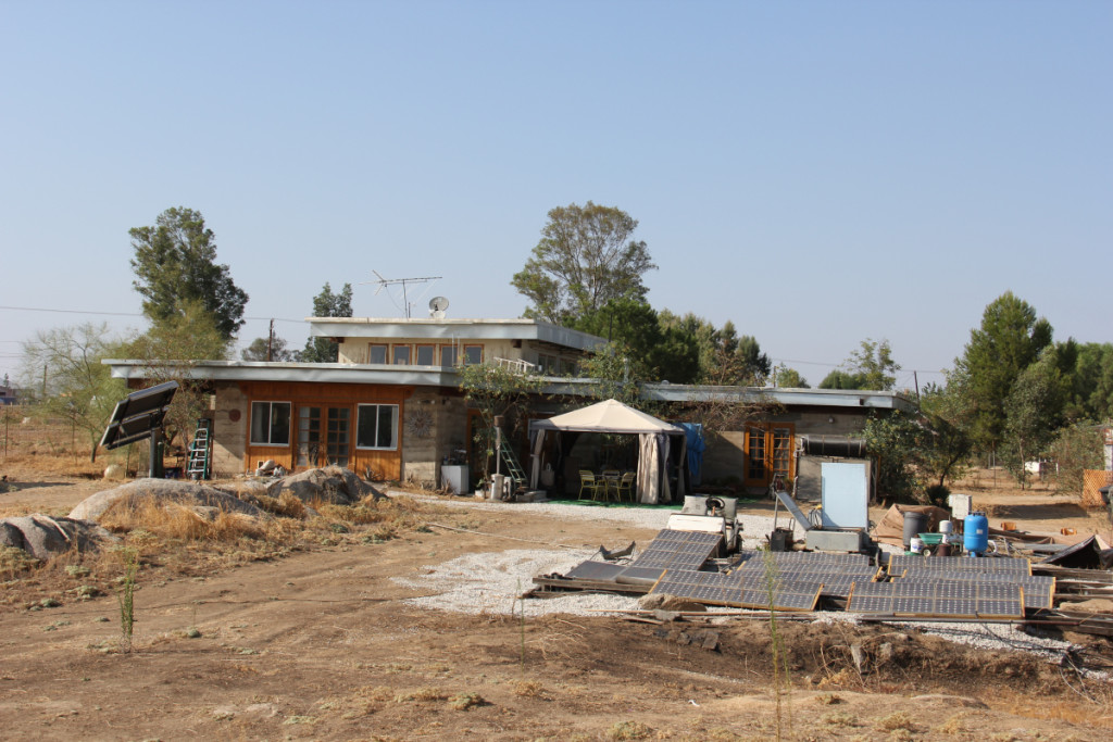 Artist Hangout - Rammed Earth House Construction 35 - South View