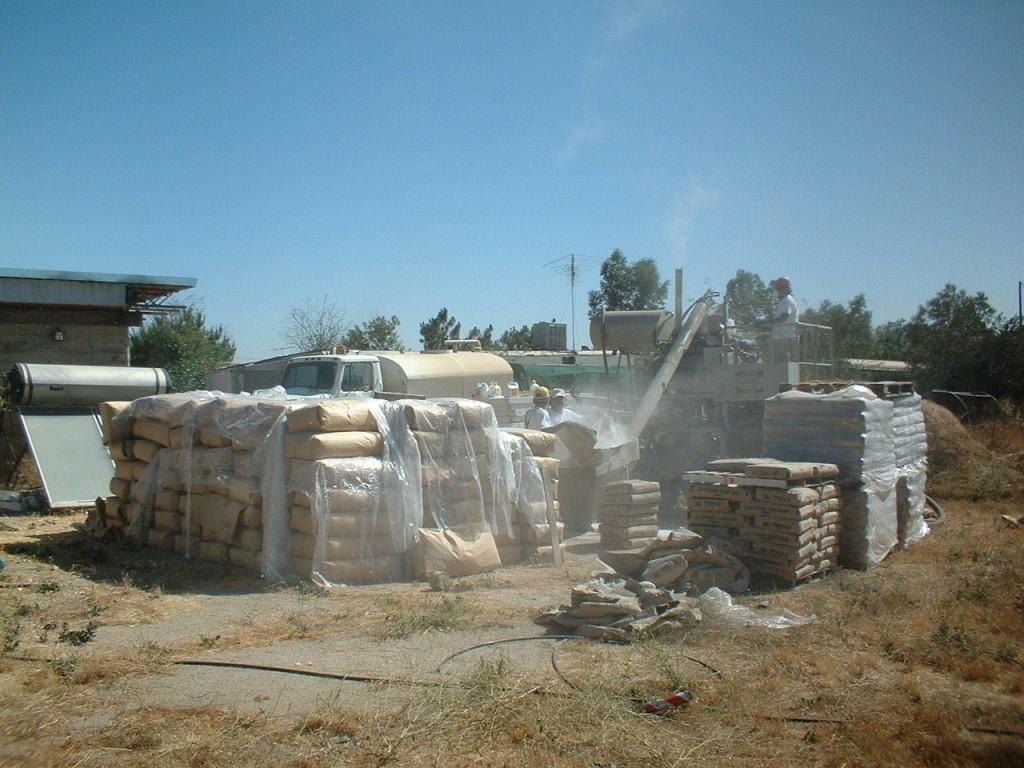 Artist Hangout - Rammed Earth House Construction 36 - Cement Station