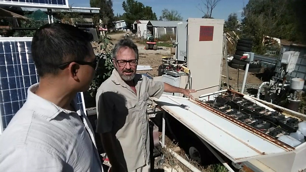 Artist Hangout - Rammed Earth House Construction 55 - Solaterre's Solar Battery Storage Storage System