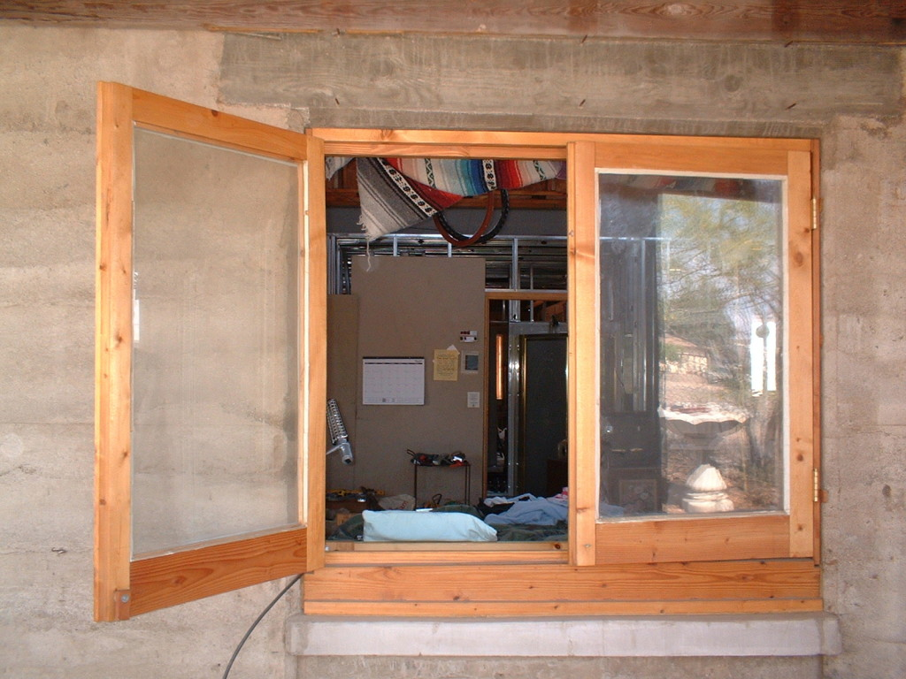 Rammed Earth House Construction Fig 47 - Newly Installed Window