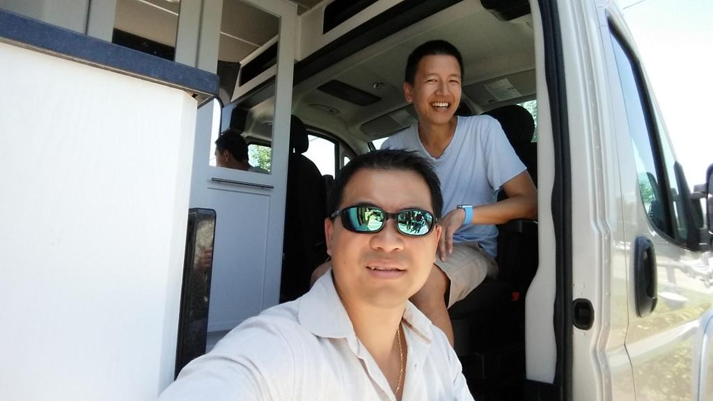 Tai Zen & Leon Fu shopping for an RV camper van